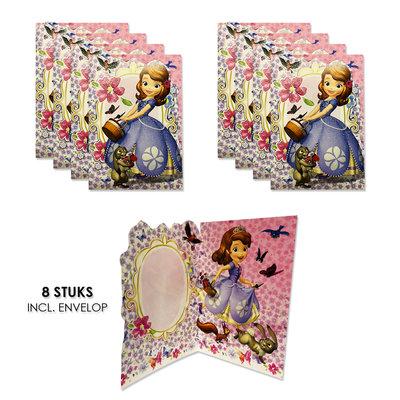 Sofia het Prinsesje uitnodigingen - kaarten verjaardag