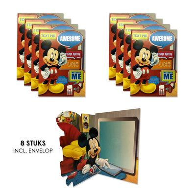 Disney Mickey Mouse uitnodigingen - kaarten verjaardag