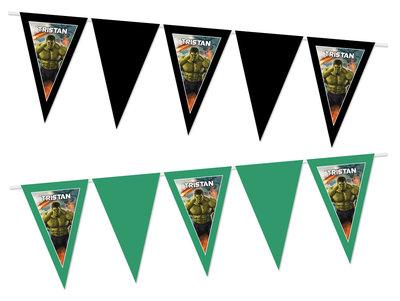 Gepersonaliseerde vlaggenlijn The Avengers Hulk thema
