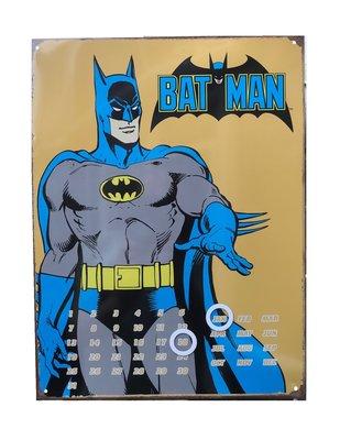 Batman wanddecoratie bord classic met kalender