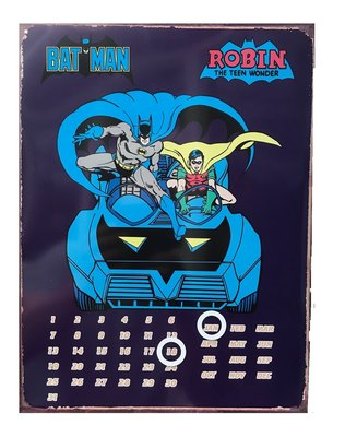 Batman wanddecoratie bord Batmobiel met kalender