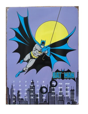 Batman wanddecoratie bord met kalender