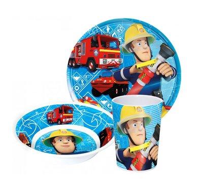 Brandweerman Sam kinderservies