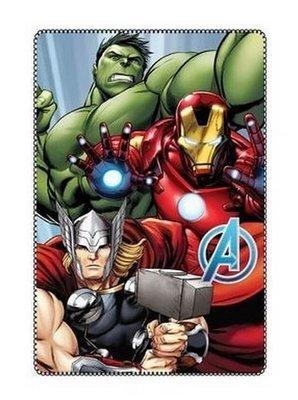 The Avengers fleece deken met de Hulk Thor en Iron man