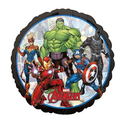 The Avengers folie ballon met jouw superhelden