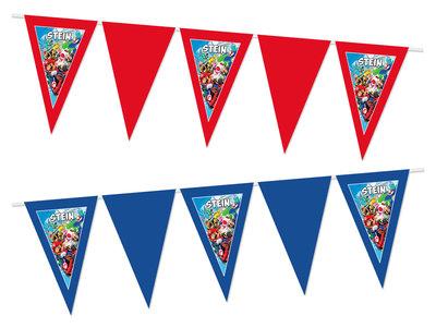 Gepersonaliseerde vlaggenlijn Mario kart thema