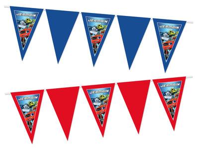 Gepersonaliseerde vlaggenlijn Blaze en de Monsterwielen thema