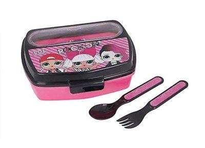 L.O.L. Surprise broodtrommel - lunchbox met bestek