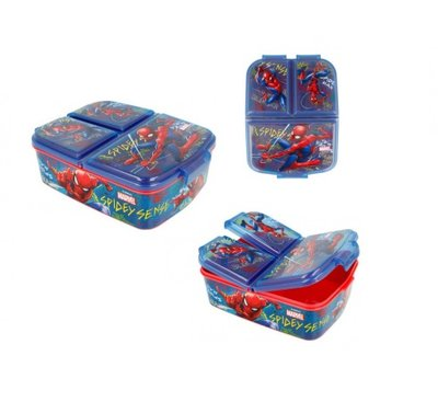Spiderman broodtrommel - lunchbox 3 vaks