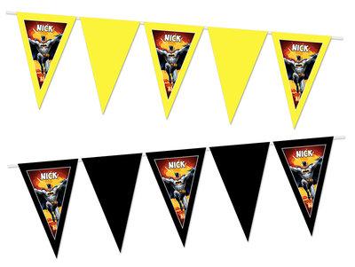 Gepersonaliseerde vlaggenlijn Batman thema