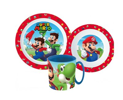 Super Mario kinderservies 3-delig