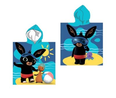 Bing het konijn poncho 55x110cm blauw