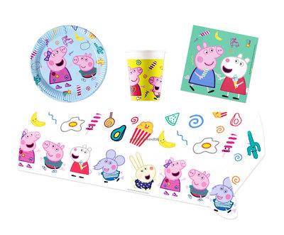 Peppa Pig feestpakket - voordeelpakket 8 personen