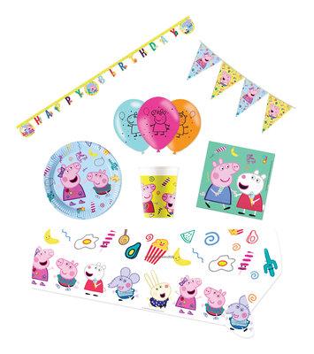 Peppa Pig feestpakket Deluxe - voordeelpakket 8 personen