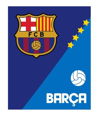 Fc Barcelona fleece deken