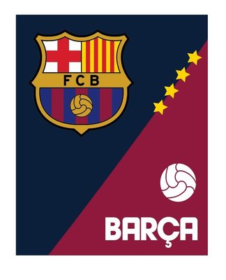 Fc Barcelona fleece deken 120x150cm