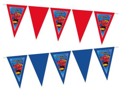 Gepersonaliseerde vlaggenlijn Spiderman thema