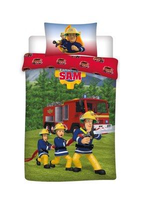 Brandweerman Sam dekbedovertrek 1 persoons 100% katoen