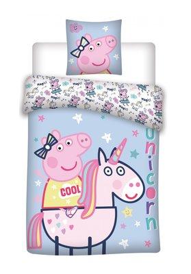 Peppa Pig dekbedovertrek 140x200cm Unicorn