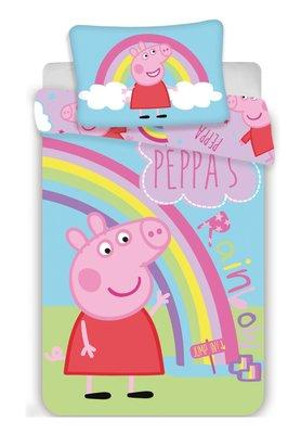 Peppa Pig peuter dekbedovertrek 100x135cm Rainbow