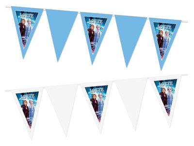 Gepersonaliseerde vlaggenlijn Disney Frozen thema Anna en Elsa