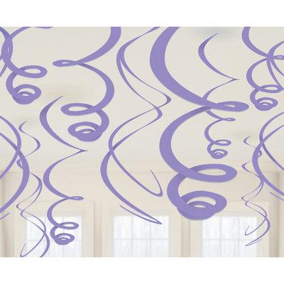 Plafond decoratie slingers paars
