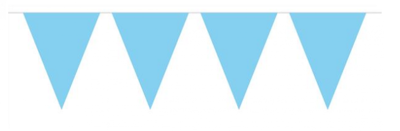Vlaggenlijn unikleur licht blauw