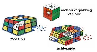 Rubik's cube puzzel 2-zijdig | 500 stukjes in cadeaublik