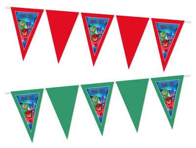 Gepersonaliseerde vlaggenlijn PJ Masks thema