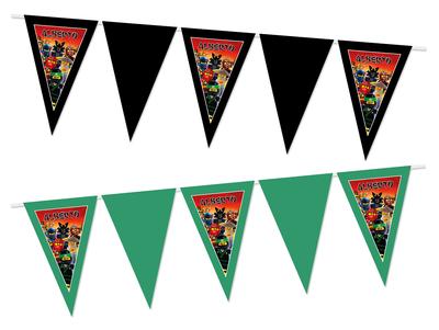 Gepersonaliseerde vlaggenlijn Ninjago thema