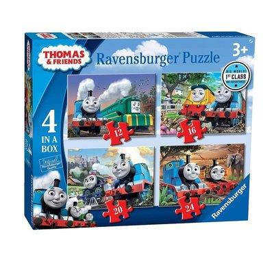 Thomas de Trein puzzelbox - set van 4 puzzels