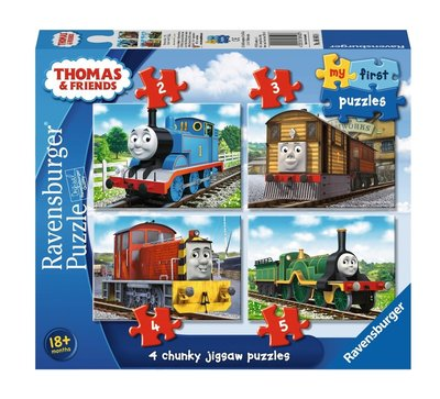 Thomas de Trein My first puzzelbox - set van 4 puzzels