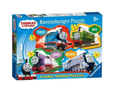 Thomas de Trein puzzelbox - set van 4 Shaped puzzels