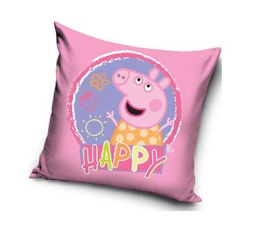 Peppa Pig kussen - sierkussen Happy