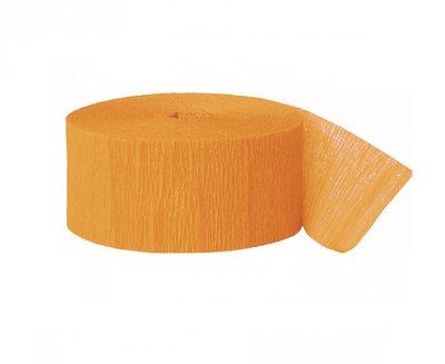 Crepe slinger smal unikleur oranje 24 meter