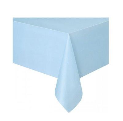 Tafelkleed unikleur lichtblauw plastic 137x274cm