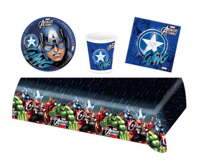 Captain America feestpakket - voordeelpakket 8 personen