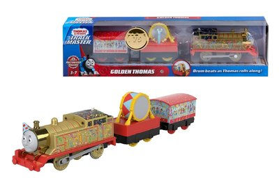 Thomas de Trein TrackMaster gemotoriseerde trein Golden Thomas met wagon