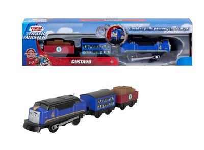 Thomas de Trein TrackMaster gemotoriseerde Gustavo met passagiers wagon