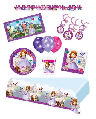 Sofia het Prinsesje feestpakket Deluxe - pakket voor 8 personen