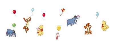 Disney Winnie de Pooh 12 delig wanddecoratie muurstickers set