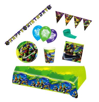 Ninja Turtles feestpakket Deluxe - pakket voor 8 personen