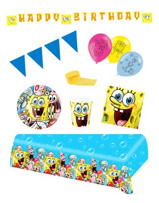 Spongebob feestpakket Deluxe - voordeelpakket 10 personen