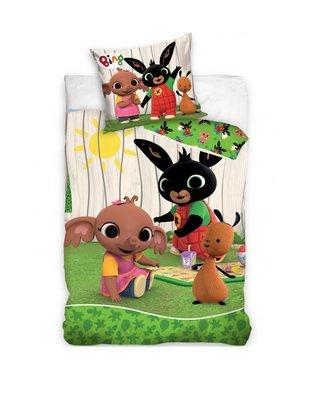 Bing het konijn dekbedovertrek 140x200cm Picknick