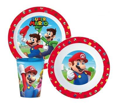 Super Mario ontbijt servies 3-delig