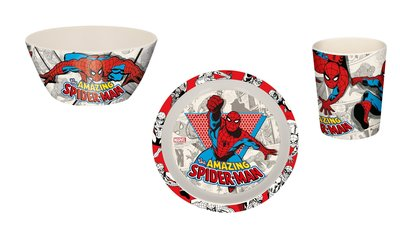 Spiderman kinderservies 3-delig bamboo eco