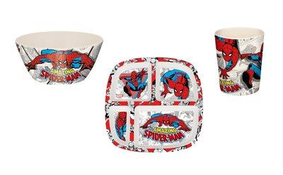 Spiderman kinderservies 3-delig Deluxe bamboo eco