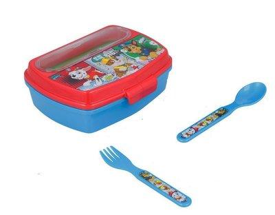 Paw Patrol broodtrommel - lunchbox met bestek