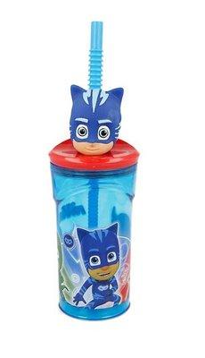 PJ Masks drinkbeker met rietje en Catboy 3D figuur
