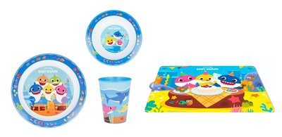 Baby Shark kinderservies 4-delig